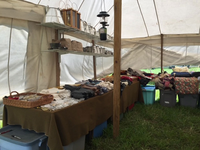 MD Sutler products at reenactment