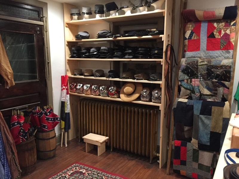 Interior of MD Sutler store